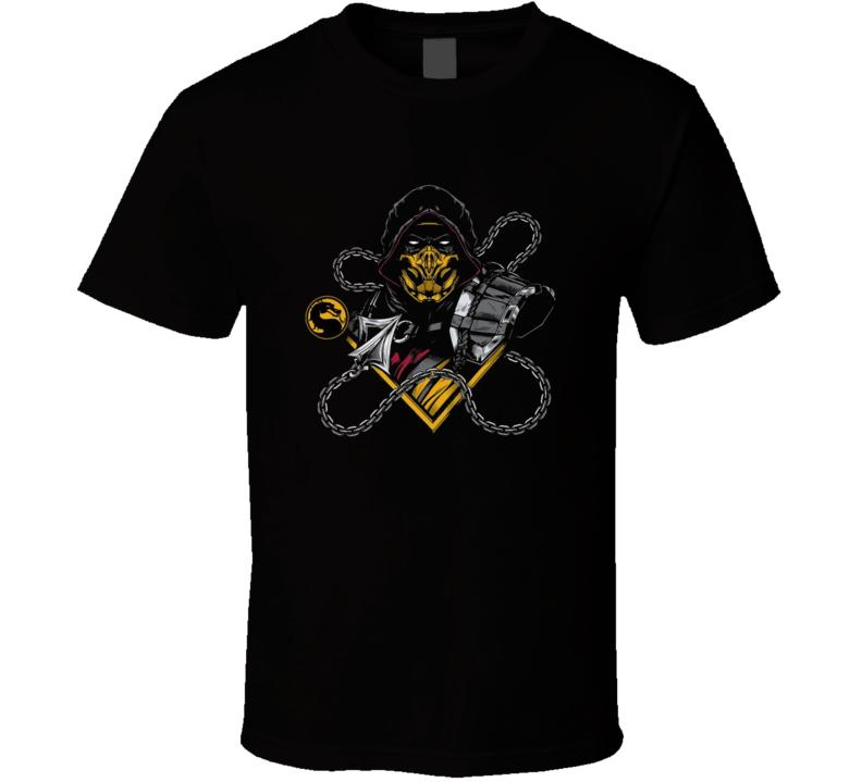 Mortal Kombat Scorpion Logo Video Game Brand New Classic Black T Shirt