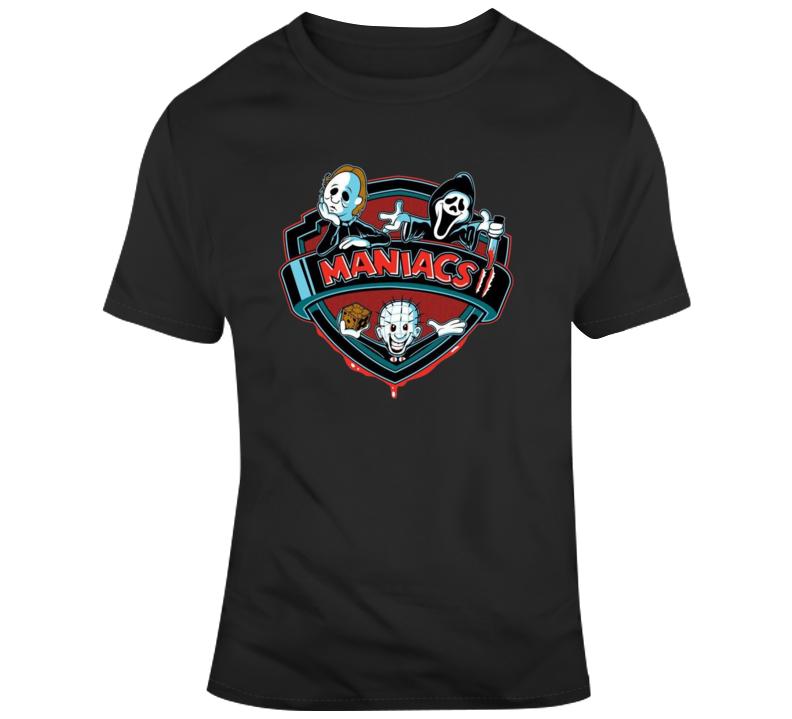 Maniacs Horror Michael Myers Parody Brand New Classic Black T Shirt
