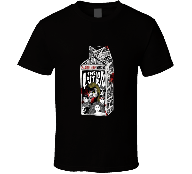 The Lost Boys Cult Milk Carton Cult Horror Movie Brand New Classic Black T Shirt