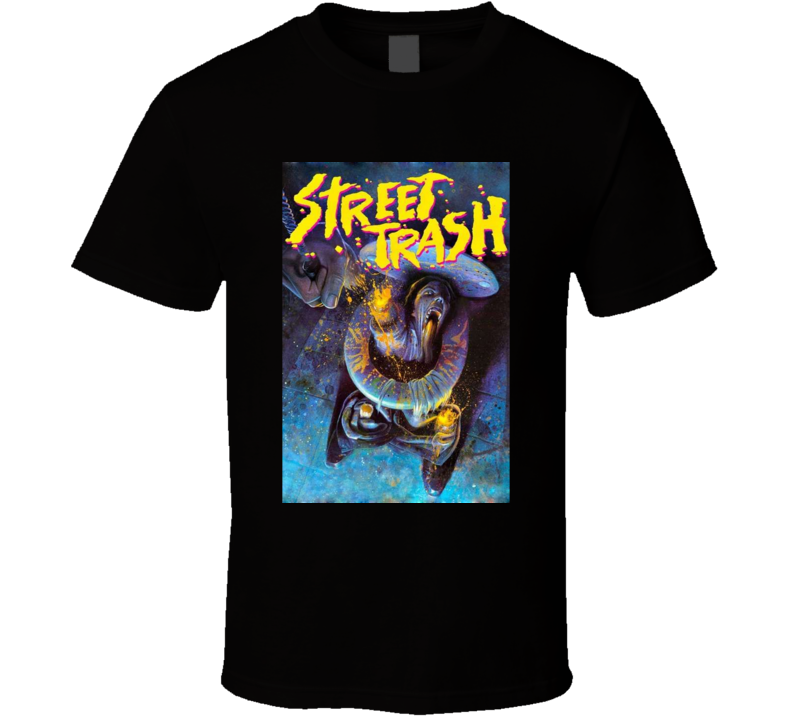 Street Trash 80s Cult Horror Movie Brand New Classic Black T Shirt
