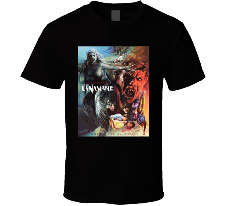 The Unnamable H P Lovecraft Horror Movie Brand New Classic Black T Shirt
