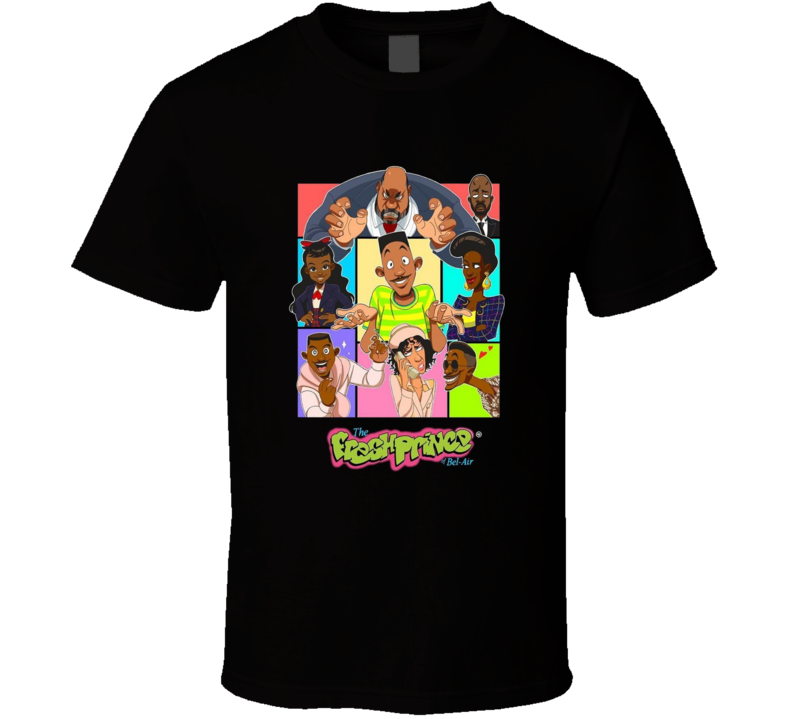 The Fresh Prince Of Belair Tv Show Brand New Classic Black T Shirt