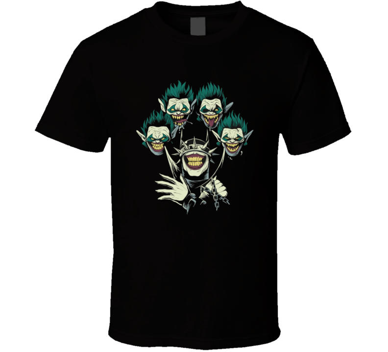The Batman Who Laughs Queen Parody  Brand New Classic Black T Shirt