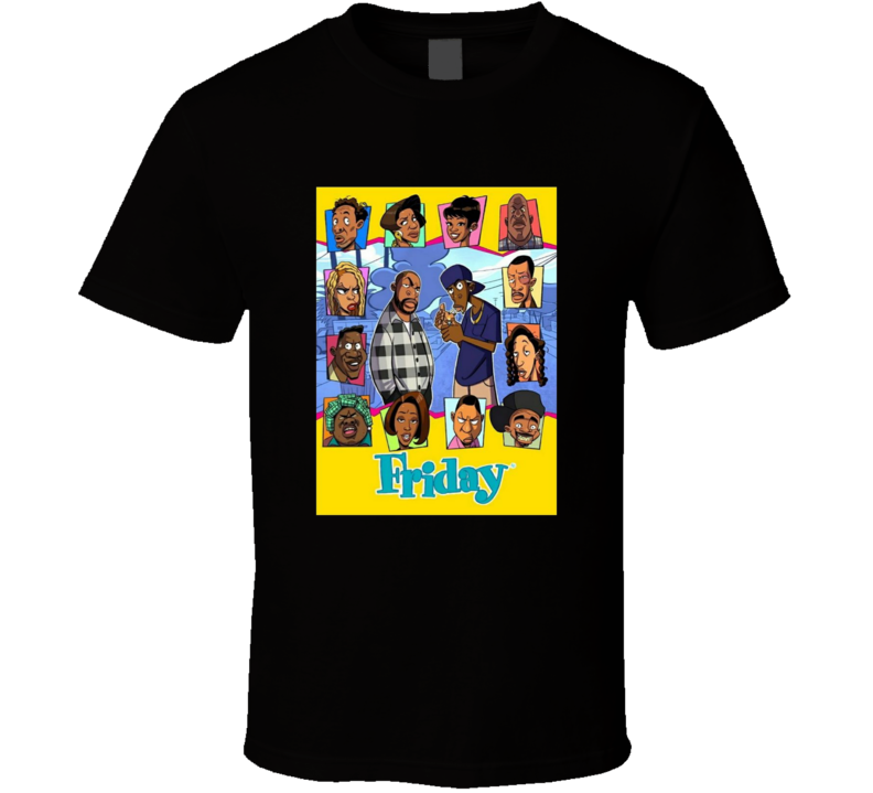 Friday The Movie Animated Brand New Classic Black T Shirt