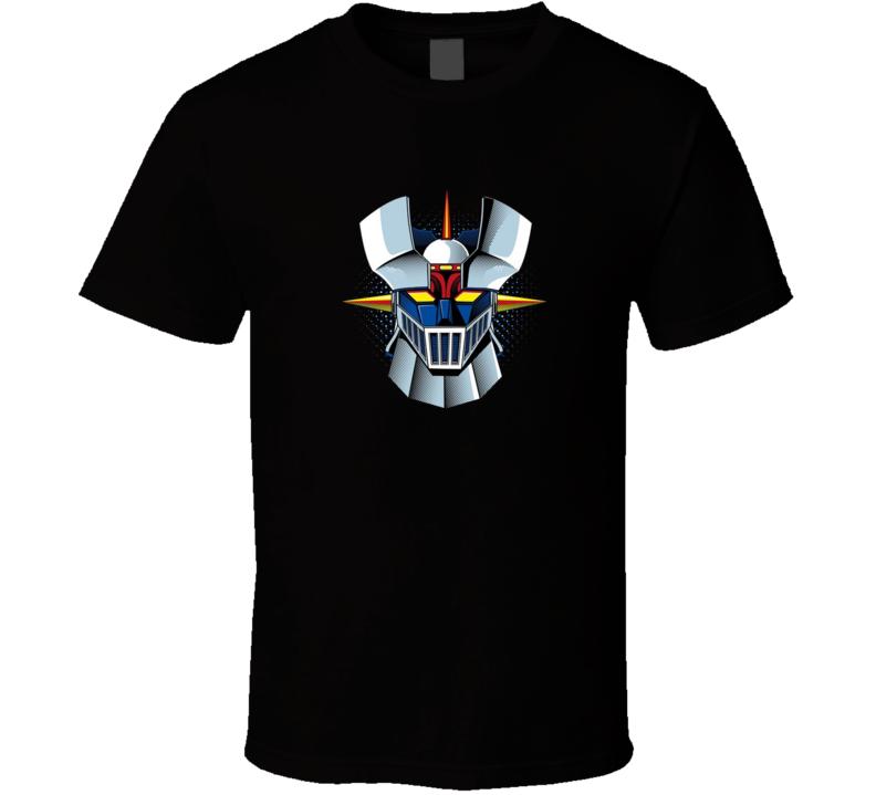 Mazinger Z Head Piece Anime Brand New Classic Black T Shirt