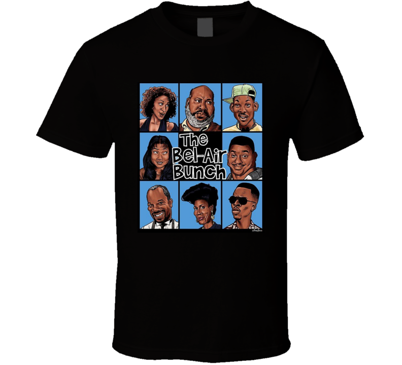 The Fresh Prince The Bel-air Bunch Funny Brand New Classic Black T Shirt