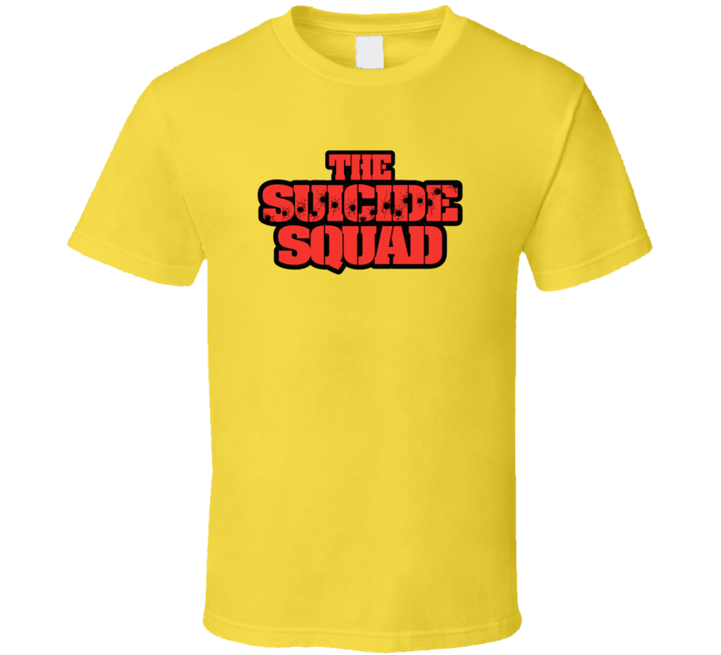 The Suicide Squad 2021 Comic Book Movie Brand New Classic Yellow T Shirt