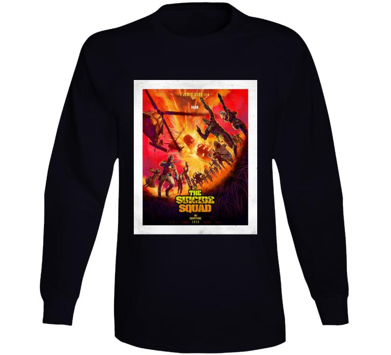 The Suicide Squad 2021 Comic Book Movie Brand New Classic Black Long Sleeve