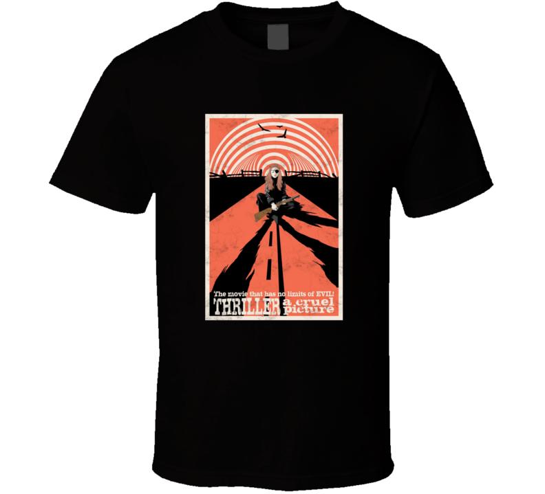 Thriller A Cruel Picture Movie Brand New Classic Black T Shirt