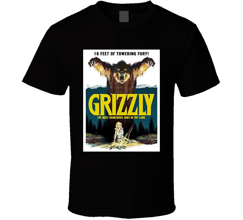 Grizzly 1976 Horror Movie Brand New Classic Black T Shirt