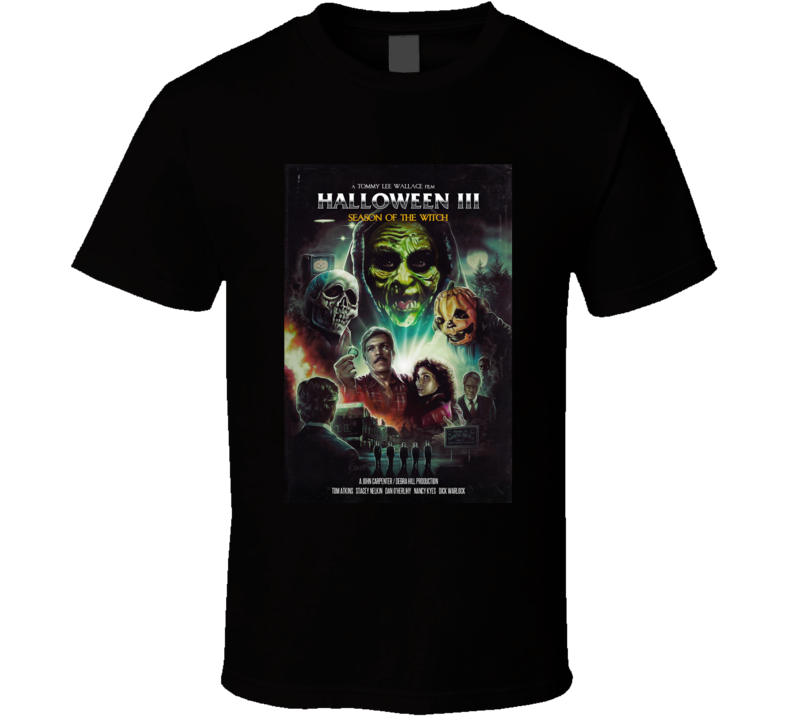 Halloween 3 Season Of The Witch Brand New Classic Black T Shirt