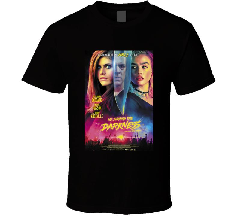 We Summon The Darkness Classic Horror Movie Brand New Black T Shirt