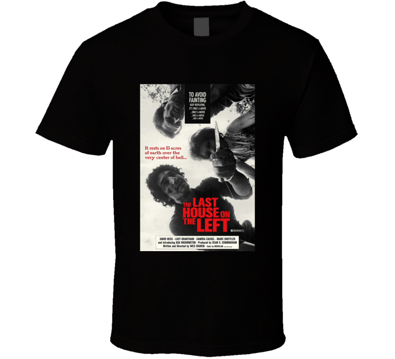 The Last House On Th Left Classic Horror Movie Brand New Black T Shirt