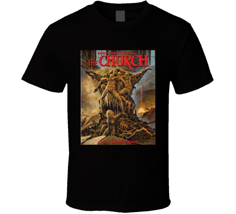The Church Classic Horror Movie Brand New Black T Shirt