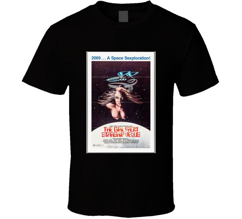 The Girl From Starship Venus Classic Movie Brand New Black T Shirt