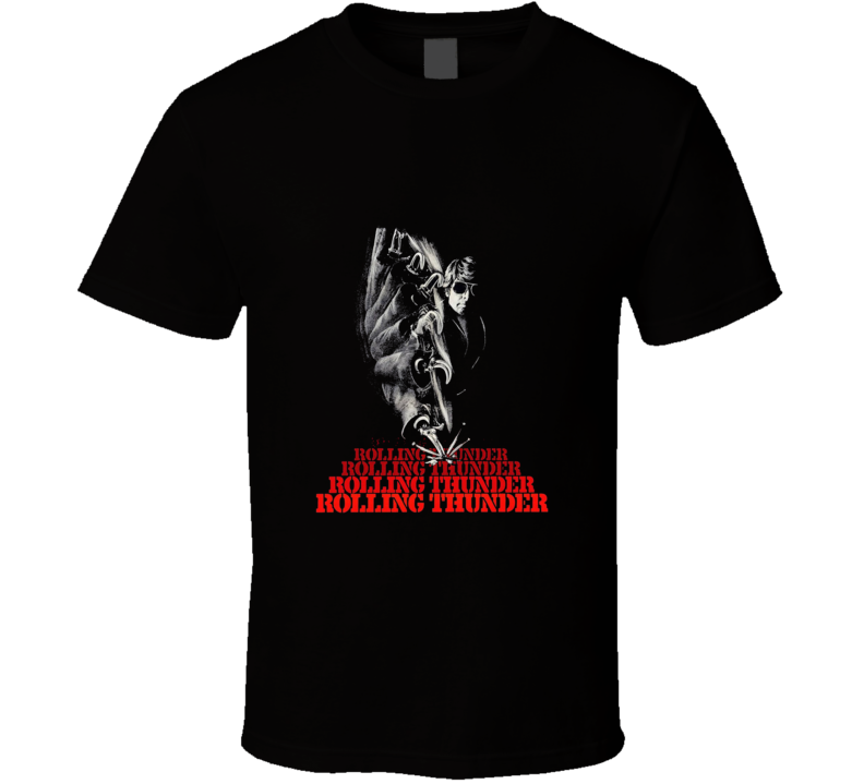 Rolling Thunder Classic Movie Brand New Black T Shirt