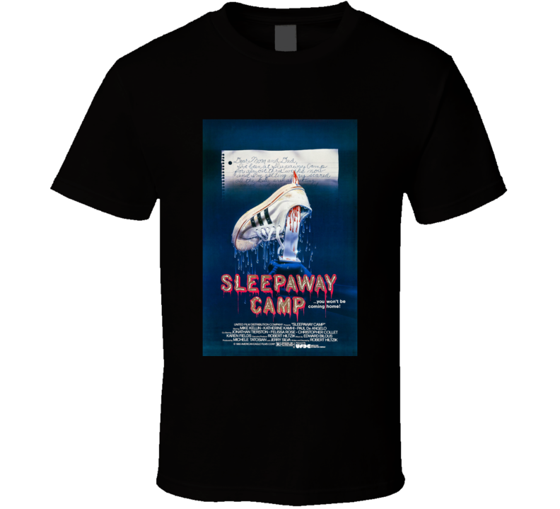 Sleepaway Camp Classic Horror Movie Brand New Black T Shirt