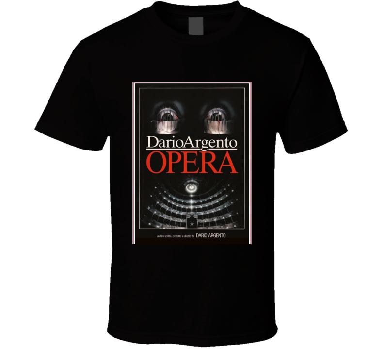 Dario Argento Opera Classic Horror Movie Brand New Black T Shirt