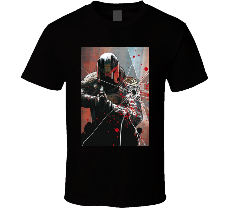 Judge Dredd Classic Comic Book Brand New Black T Shirt