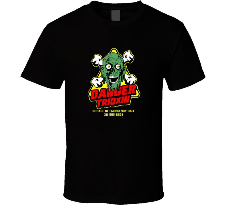 Danger Toxin Return Of The Living Dead Classic Horror Movie Brand New Black T Shirt