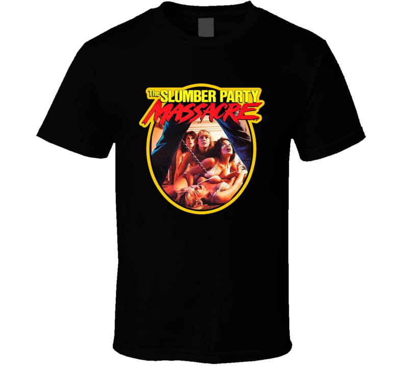 The Slumber Party Massacre Classic Horror Movie Brand New Black T Shirt