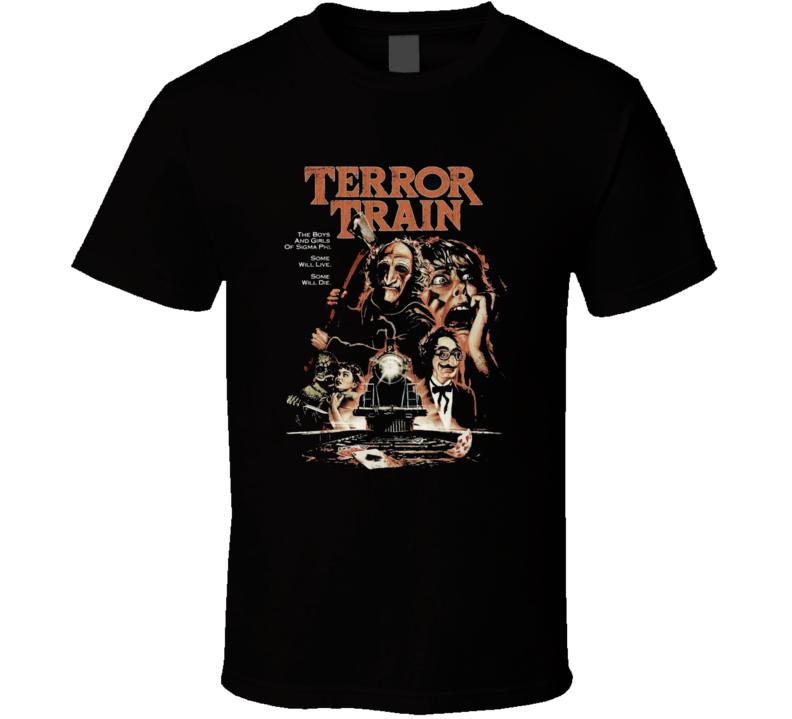 Terror Train Classic Horror Movie Brand New Black T Shirt