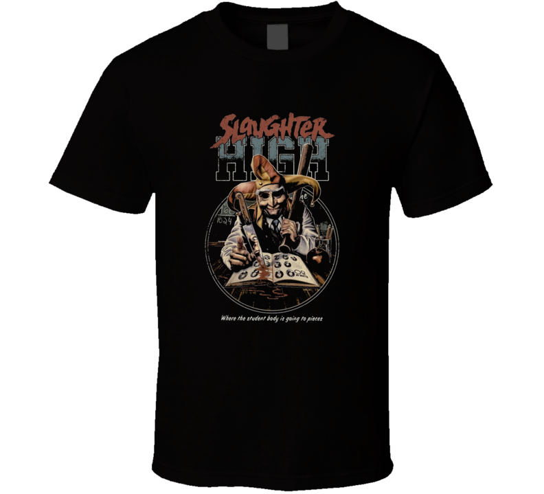 Slaughter High Classic Horror Movie Brand New Black T Shirt