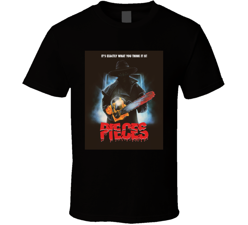 Pieces Classic Horror Movie Brand New Black T Shirt