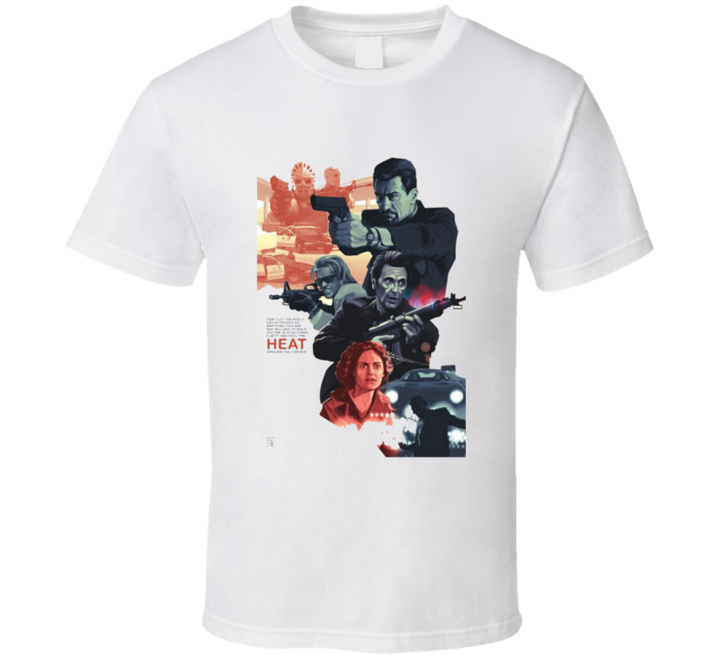 Heat Classic Crime Movie Brand New White T Shirt