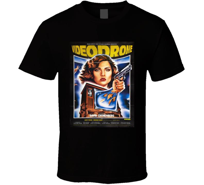 Videodrome Classic Horror Movie Brand New Black T Shirt
