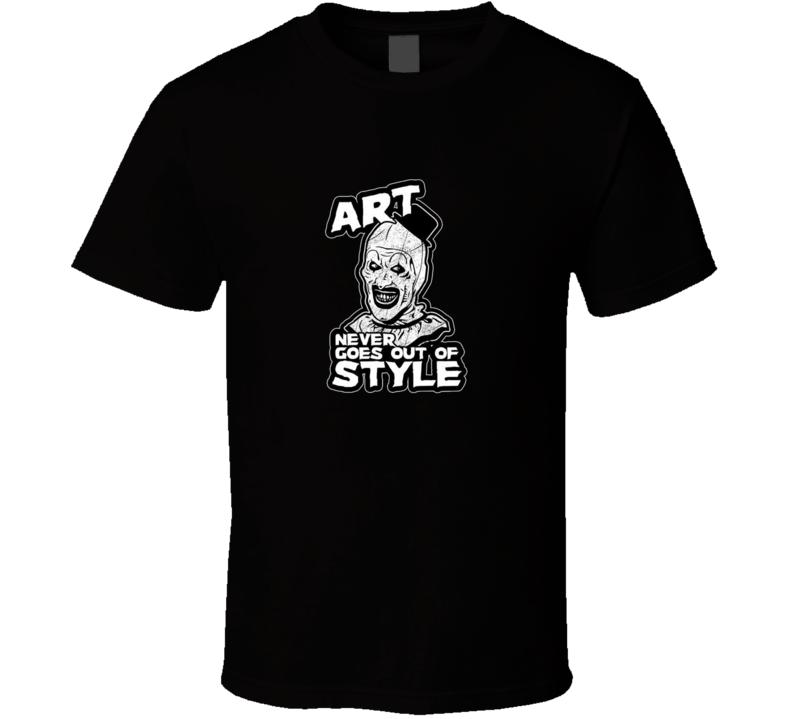 Terrifier Art The Clown Classic Horror Movie Brand New Black T Shirt