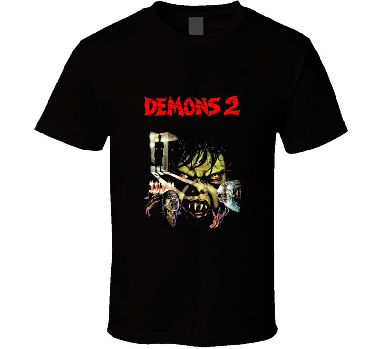 Demons 2 Classic Horror Movie Brand New Black T Shirt
