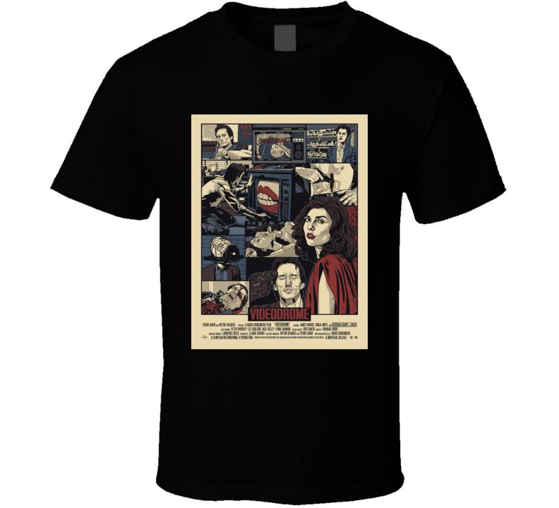 Videodrome Classic Sci Fi Horror Movie Brand New Black T Shirt