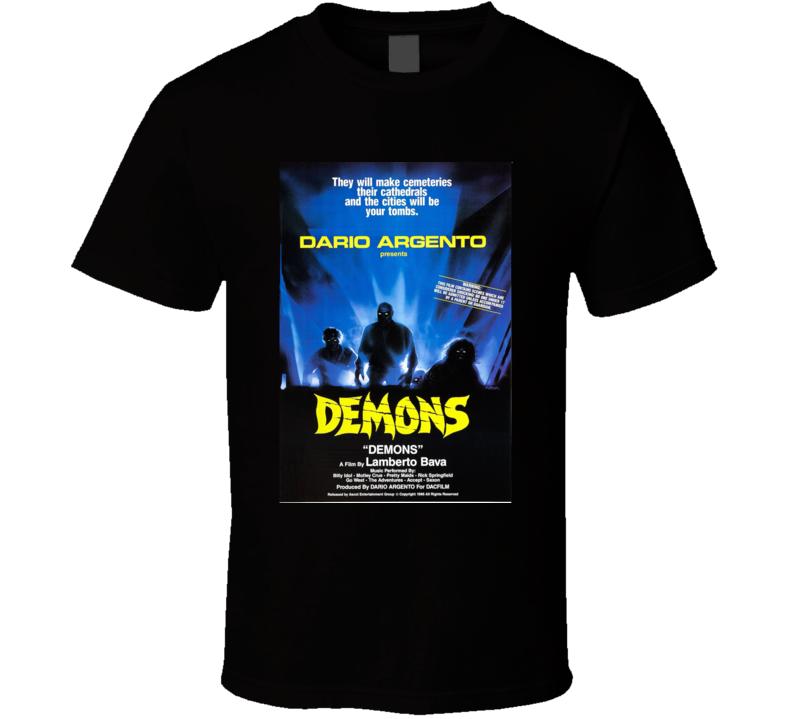 Demons Italian Classic Horror Movie Brand New Black T Shirt