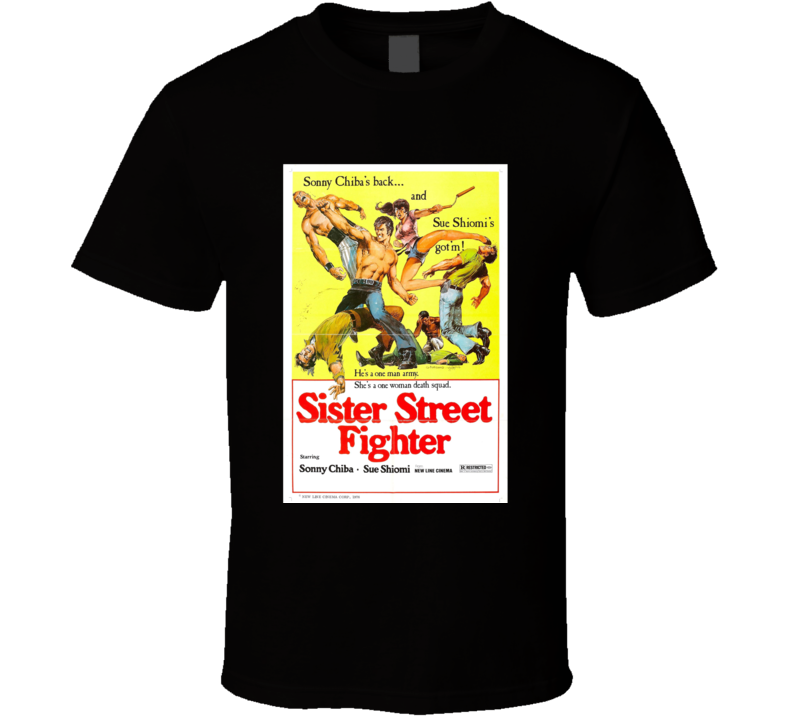 Sister Street Fighter Classic Action Movie Brand New Black T Shirt