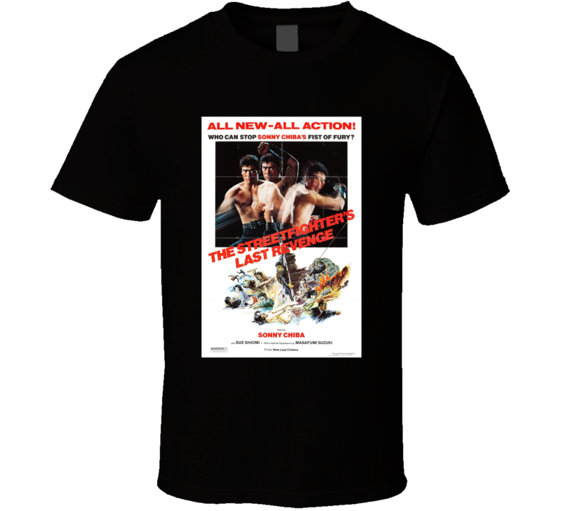 The Streetfighters Last Revenge Classic Action Movie Brand New Black T Shirt