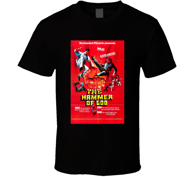 The Hammer Of God Classic Action Movie Brand New Black T Shirt