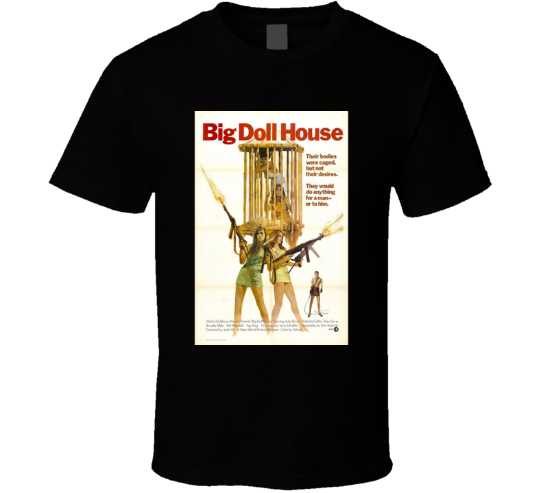 Big Doll House Action Movie Brand New Classic Black T Shirt