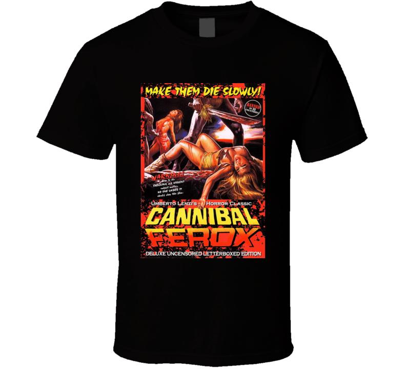 Cannibal Ferox  Horror Movie Brand New Classic Black T Shirt