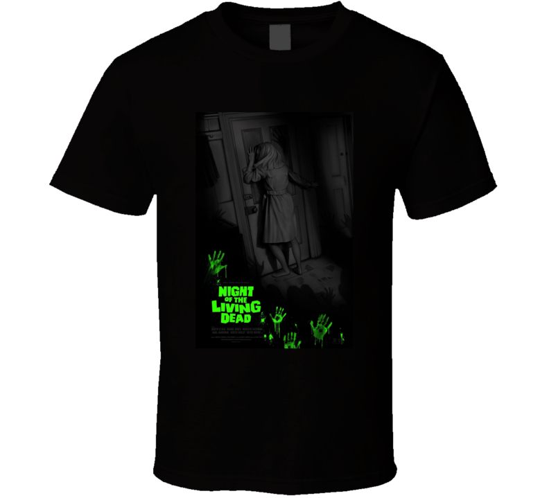 Night Of The Living Dead Horror Movie Classic Brand New Black T Shirt