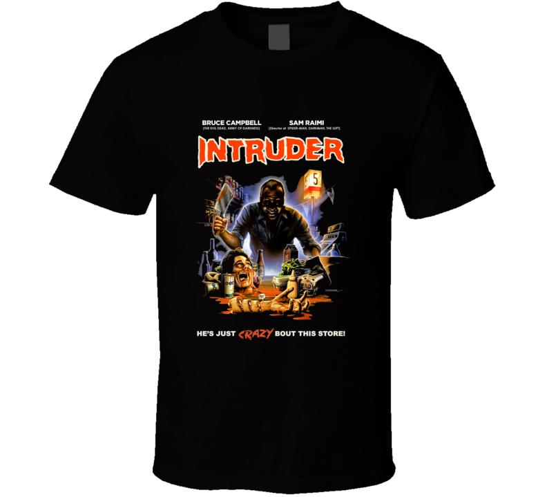 Intruder  Horror Movie Classic Brand New Black T Shirt