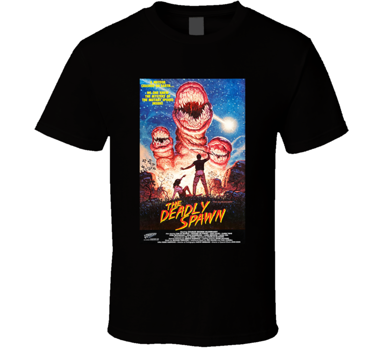 The Deadly Spawn Horror Movie Classic Brand New Black T Shirt