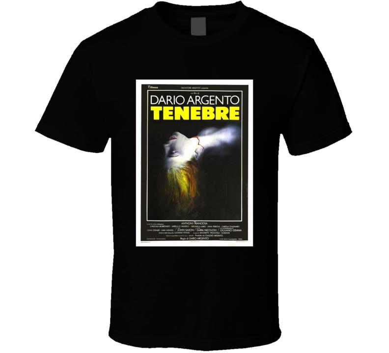 Dario Argento Tenebrae Horror Movie Classic Brand New Black T Shirt