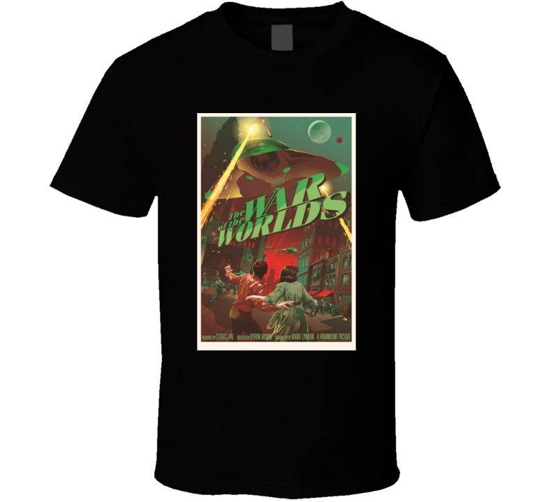 The War Of The Worlds Horror Movie Classic Brand New Black T Shirt