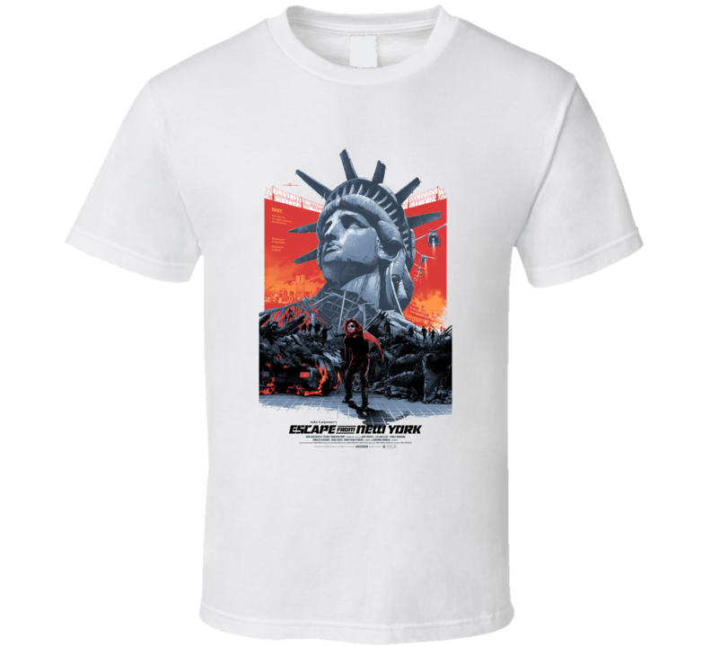 Escape From New York Action Movie Classic Brand New White T Shirt
