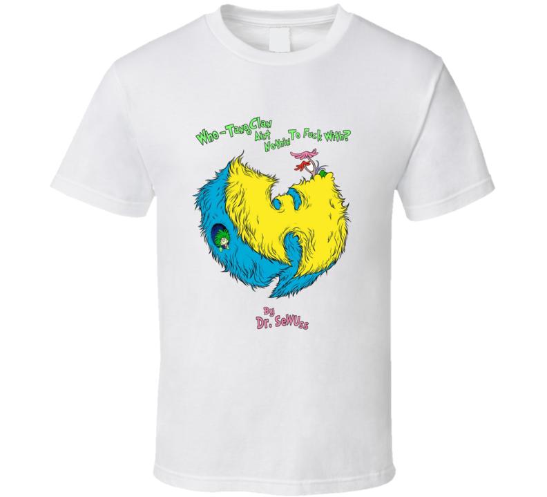 Wu Tang Dr Seuss Parody Hip Hop Music Classic Brand New White T Shirt
