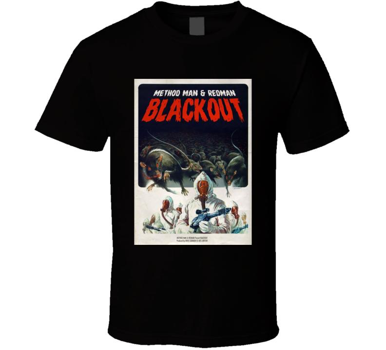 Mothod Man And Redman Blackout Hip Hop Music Classic Brand New Black T Shirt