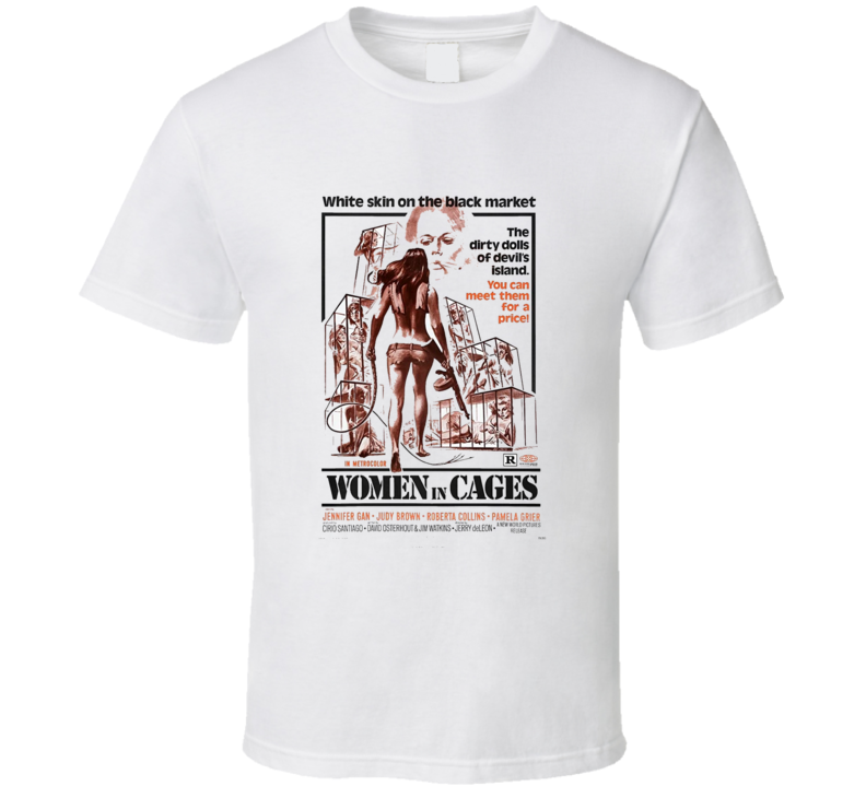 Women In Cages Action Movie Classic Brand New White T Shirt