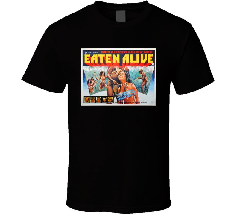Eaten Alive Horror Movie Classic Brand New Black T Shirt