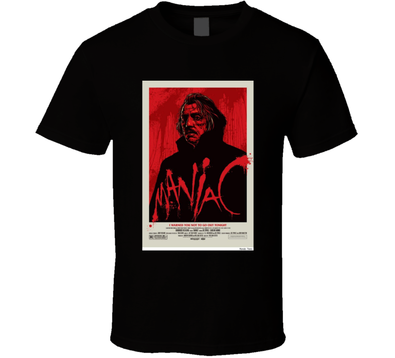 Maniac Horror Movie Classic Brand New Black T Shirt